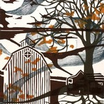 October Multiblock Woodcut Print, Emily Koehler